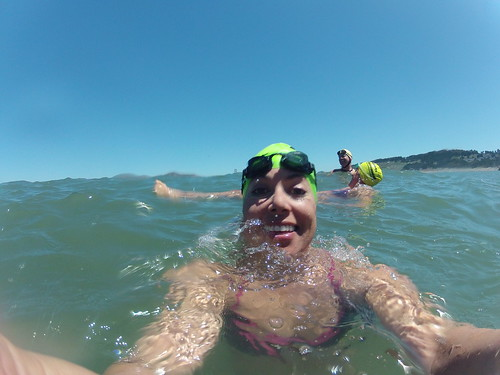 Swimming Outside Golden Gate Bridge at China Beach, San Francisco June 10, 2012