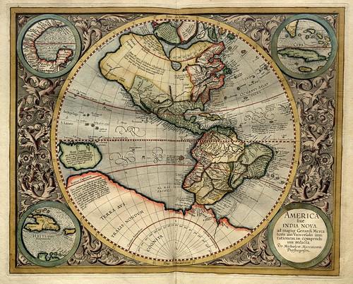 005- America-Atlas sive Cosmographicae meditationes de fabrica mvndi et fabricati figvra 1595- Mercator- library of Congress