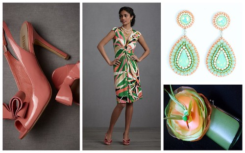 Summer Wedding Color Inspiration: Coral, Pink + Green by Nina Renee Designs