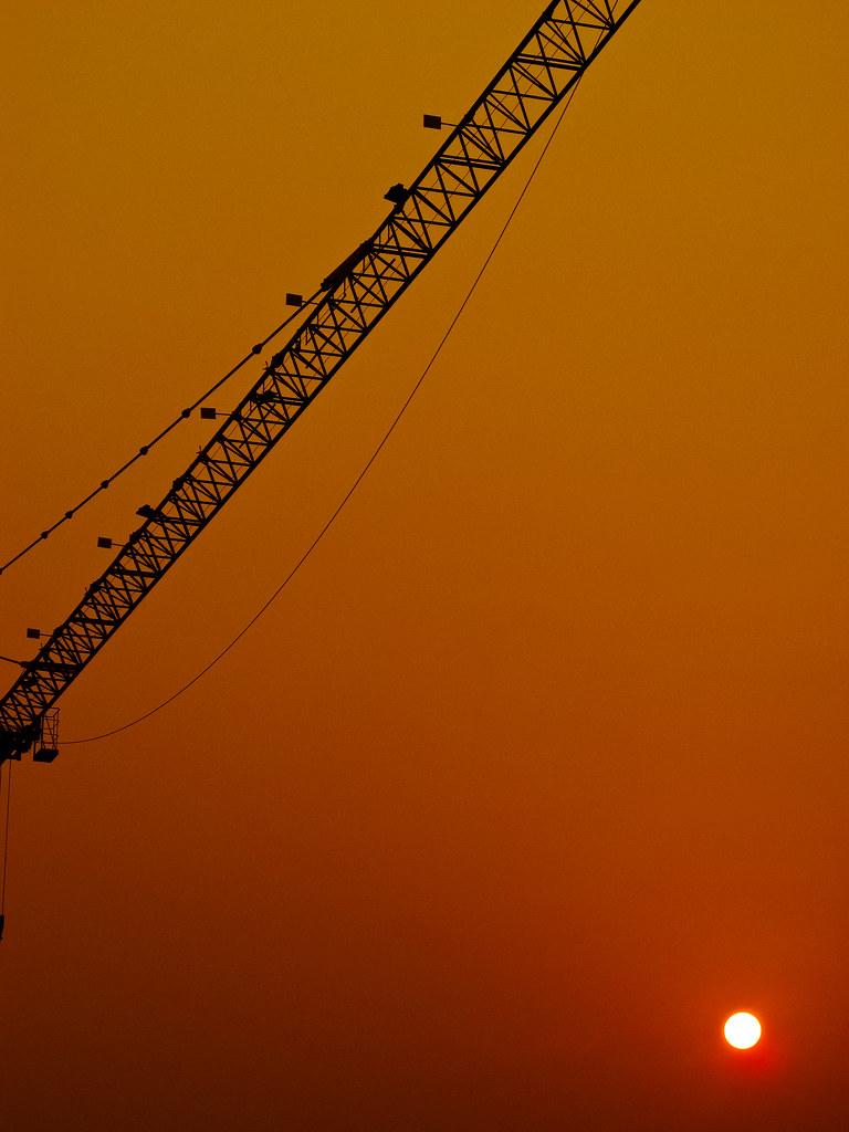 Sunrise with the morning haze ...