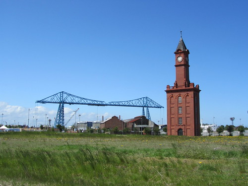 Middlesbrough Transporter Bridge and Clock Tower