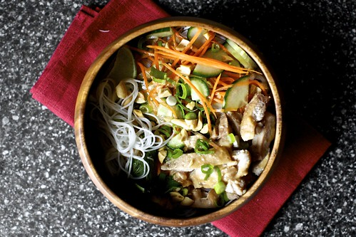 cold rice noodles with peanut-lime chicken | smitten kitchen