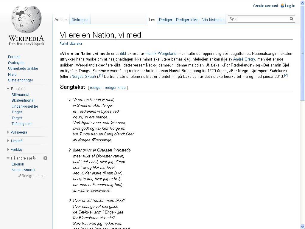 vi er en nasjon wiki