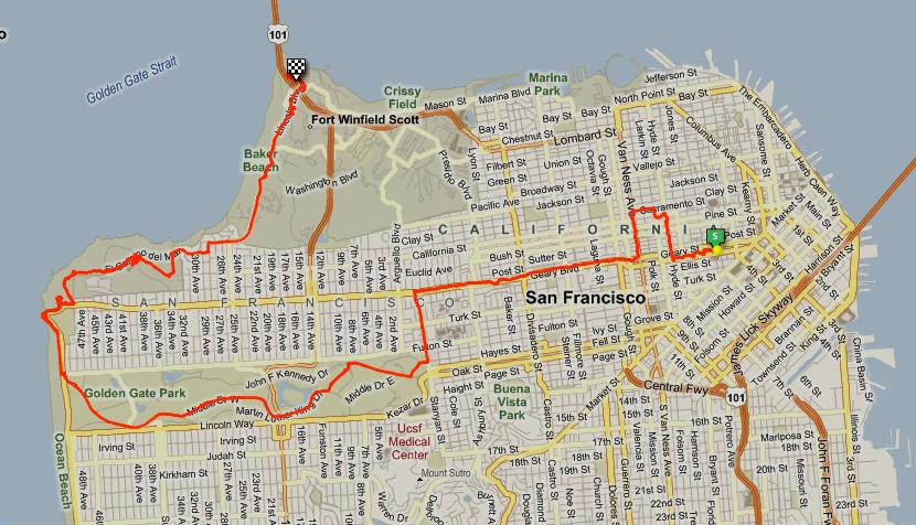 SF ride map