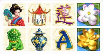 free Golden Lotus slot game symbols