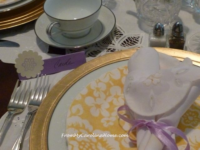 Luncheon Placecards at From My Carolina Home