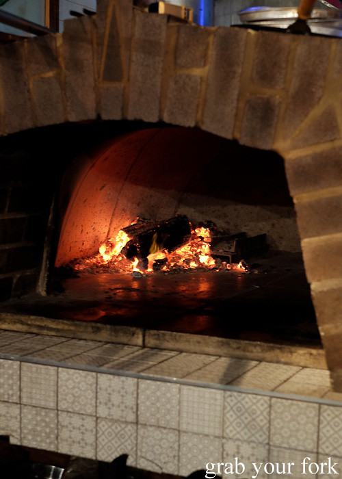 Inside the wood fire oven at Pazar Food Collective, Canterbury