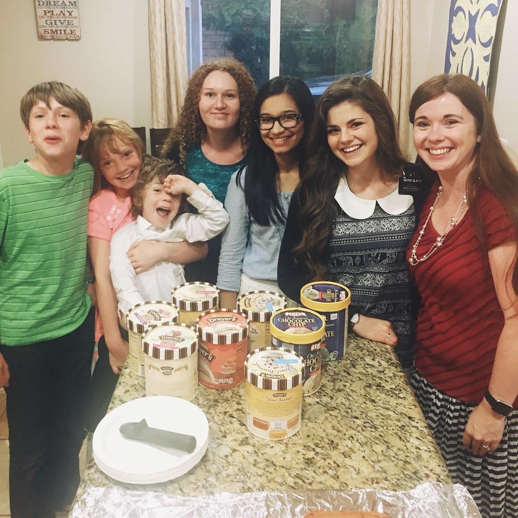 Feeding Sister Missionaries