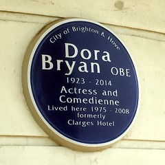 Photo of Dora Bryan blue plaque