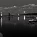 Monochrome Moonscape Night