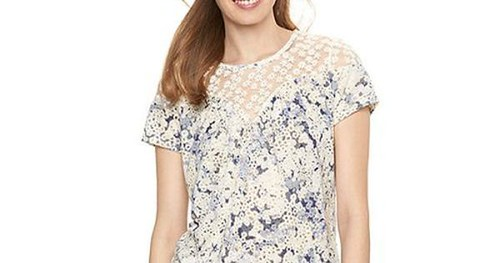 Daily Deals @ Kohls 25% OFF Womens LC Lauren Conrad Lace Swing Tee - DealOfTheDay Sale - http://bit.ly/28NFVVW - Get Free-Shipping with Order Over $75 or Pick-Up at your Local Store. Womens Tops Clothing #DealOfTheDay #Sale Hurry! This is One Day Sale Pri