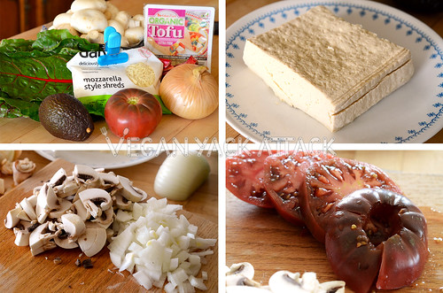 Making a vegan breakfast burrito
