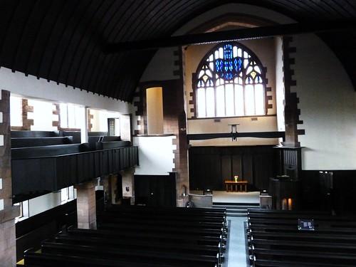 Inside Mackintosh Church,Queen's Cross