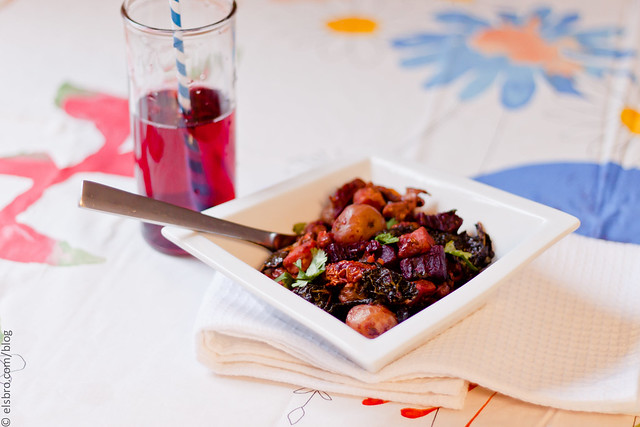 Roasted Potatoes,  Beets & Kale