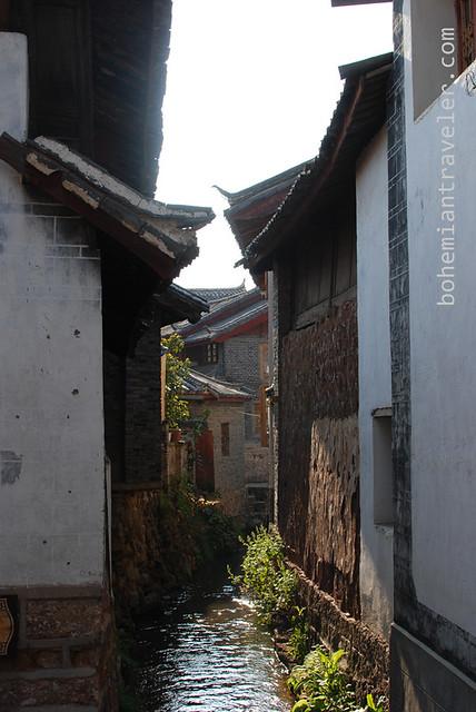 canal of of Lijiang Yunnan China