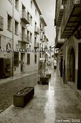 La lluvia en Morella (Castellón, Comunidad Valenciana)