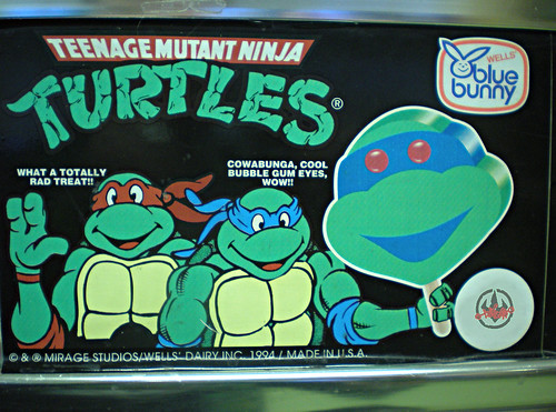 Blue Bunny :: Teenage Mutant Ninja Turtle 'Face' Bars - vendor sticker i (( 1994 ))