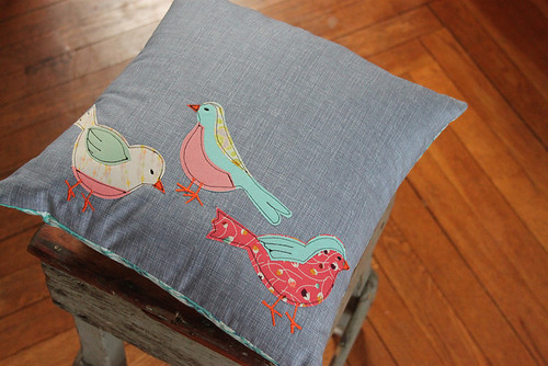 Bird Pillow Giveaway by Maureen Cracknell