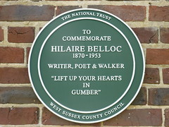 Photo of Hilaire Belloc green plaque