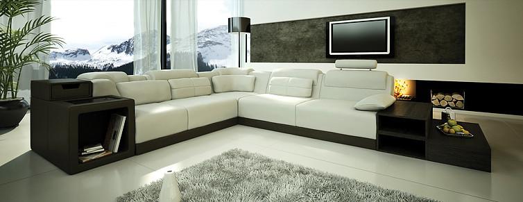 Sofas con chaise longue divan salas recibos modernos liq12 bs ...