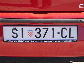 Autokennzeichen: Kroatien (ŠI: Šibenik)