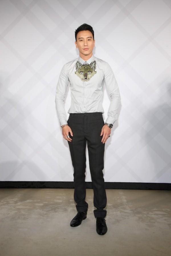 8 - Sunny Wang wearing Burberry