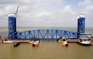 New Galveston Causeway Railroad Lift Bridge 1204271450