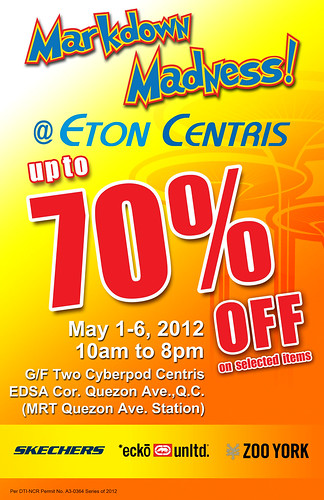 Markdown Madness ETON centris may 2012 70% off pinoypalaboy