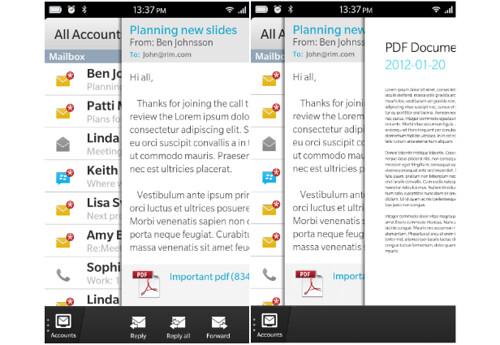 BB10 - Berpindah aplikasi dengan cepat