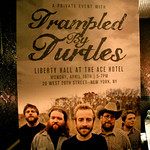 Mon, 16/04/2012 - 5:32pm - A private show at Liberty Hall at the Ace Hotel with Trampled by Turtles, April 16, 2012. Hosted by Alisa Ali. Photo by Laura Fedele