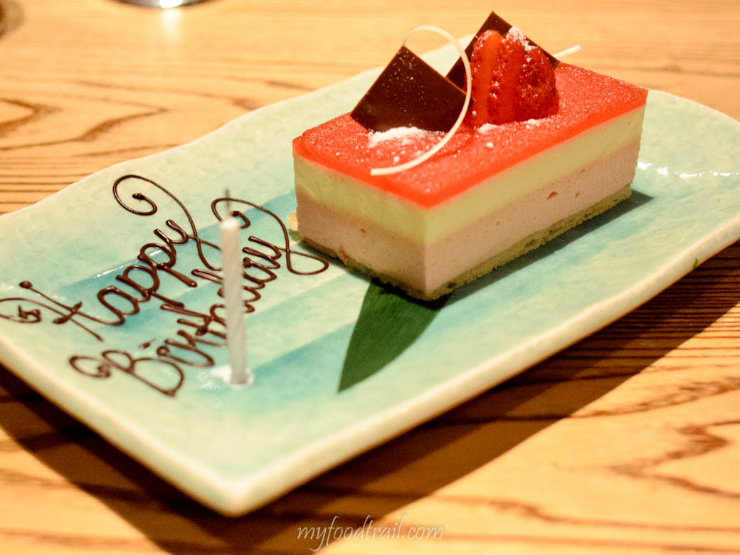 Nobu - Complimentary birthday cake