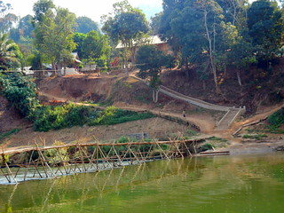 bamboo bridge to minority village