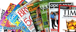 assortment of magazines