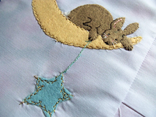 Moon Bunny Quilt in progress (1)