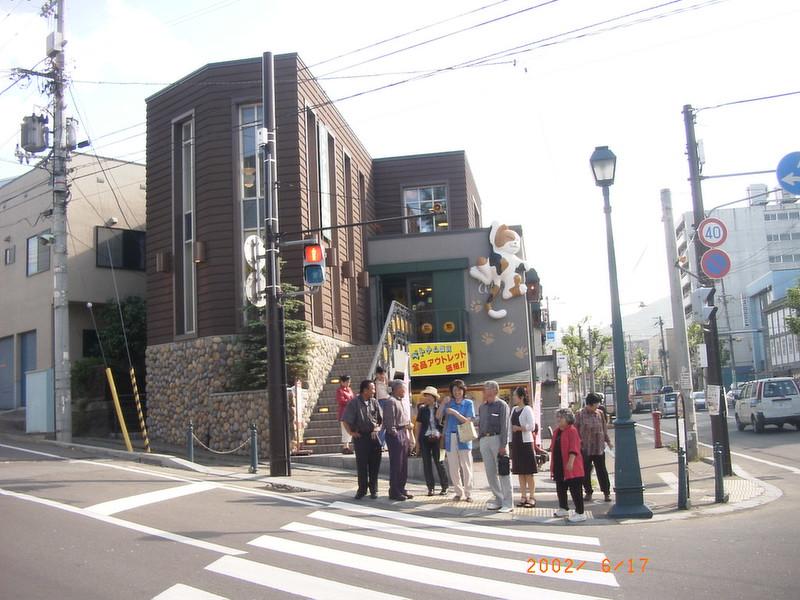 073小樽街道貓