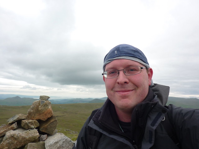At the summit of Green Crag