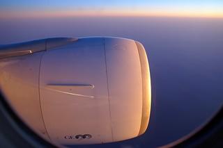 F-GSQB  FLIGHT CDG-KIX EARLY MORNING OVER KOREA
