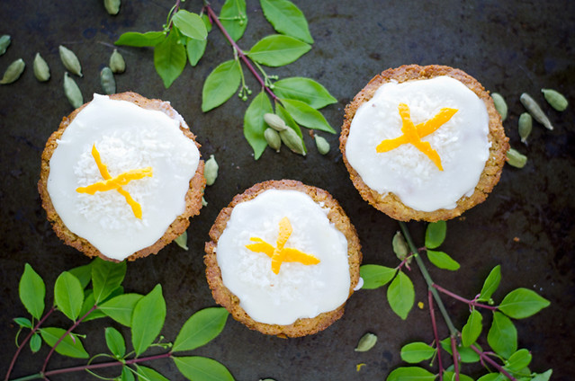 Cardamom Infused Citrus Coconut Muffins by Mary Banducci