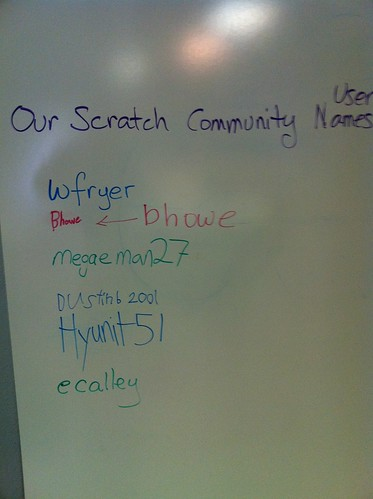 Our Scratch Community UserIDs