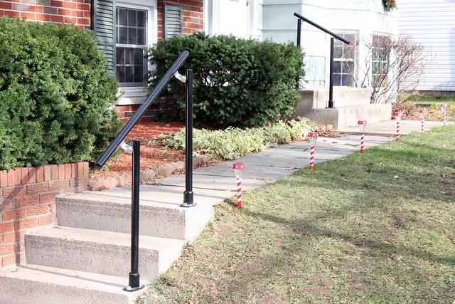 简单扶手栏杆安装过程