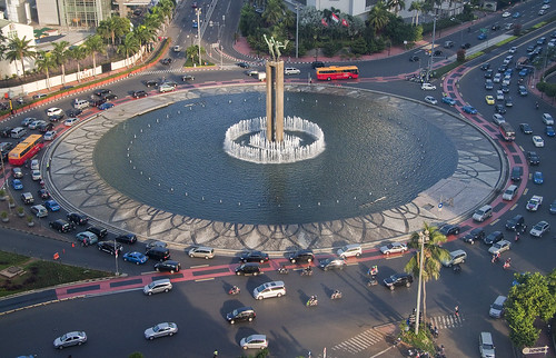 Image of Indonesian roundabout