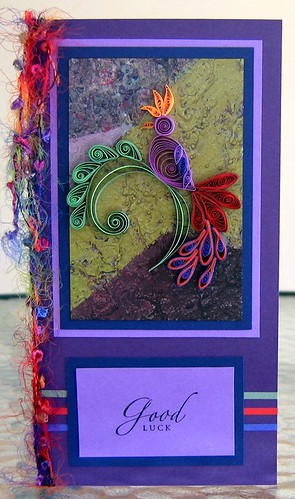 Quilled Jacobean Bird Card