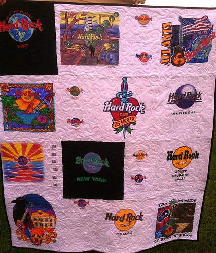 Hard Rock memory quilt