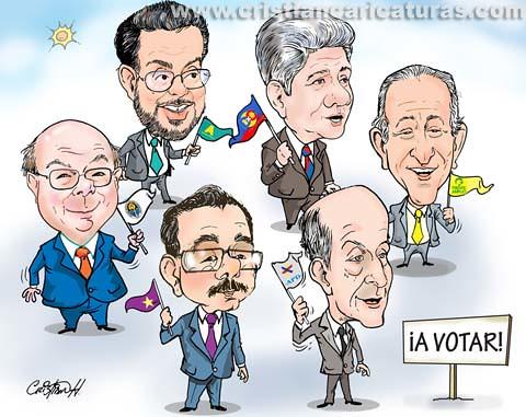 Caricatura a votar