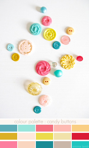 colour palette : candy buttons