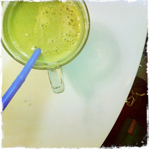 Matcha smoothie in the morning