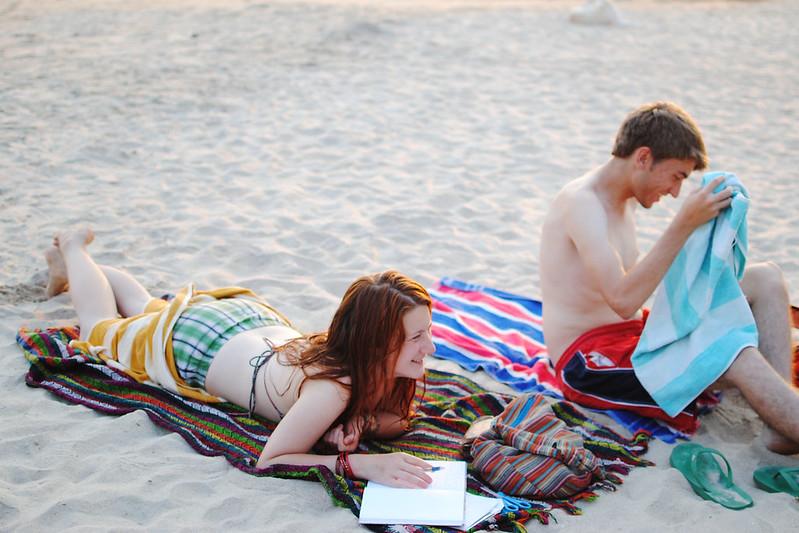 freddy und mimi am strand