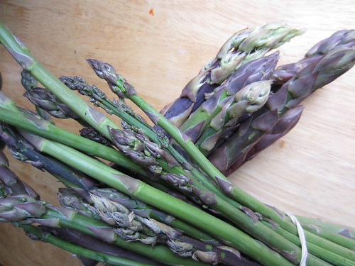 Asparagus, big and small