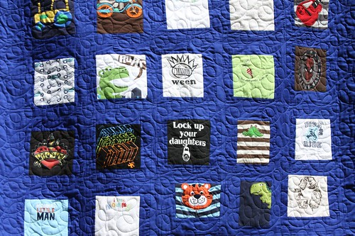 Custom Memory Baby Quilt for Corwin