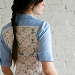 Lace & Chambray shirt diy